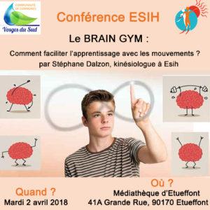 Conférence Parents Enfants : Le Brain Gym