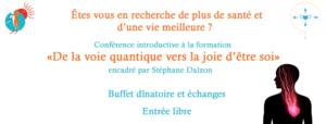 Conférence quantique Stéphane Dalzon vendredi 13 septembre 2019