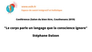 """Conférence Kinésiologie """"Le corps parle un langage que la conscience ignore"""""""